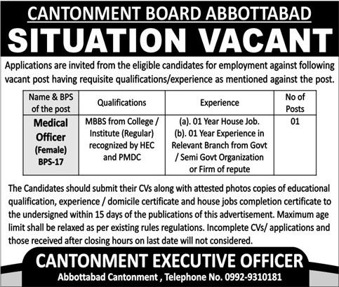 PAF Pakistan Air Force Hospital Peshawar Jobs 2019 for